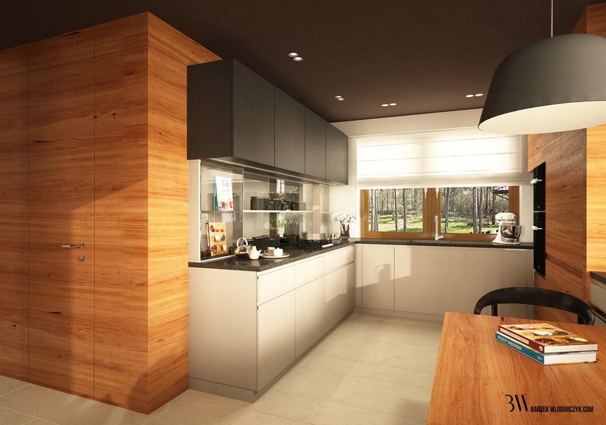 Architektura, wnętrza, technologia, design  HomeSquare   -> Kuchnia Nowoczesna Z Drewnem