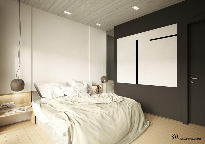 Czerń i biel w sypialni - Bartek Włodarczyk