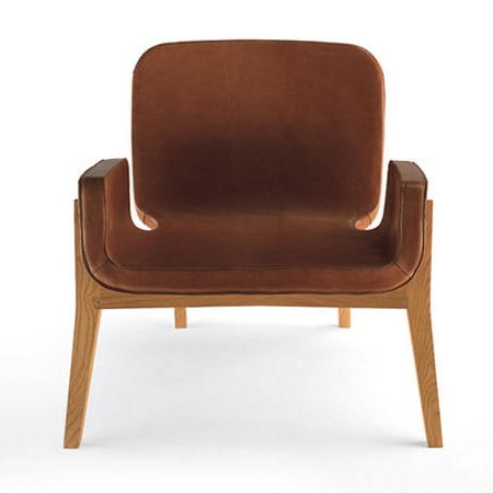 Skórzany fotel retro Jockey Poltrona Frau