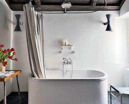 Jasna łazienka w stylu retro - Nemo