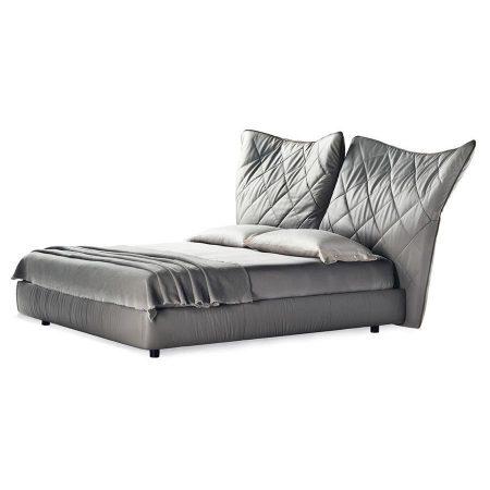 Łóżko ze składanym wezgłowiem Lelit Poltrona Frau