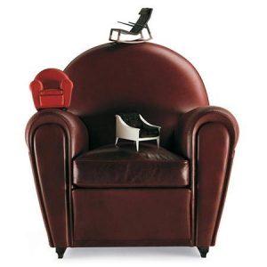 Miniaturowe fotele retro Le Miniature Poltrona Frau