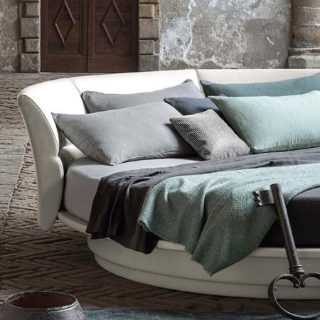 Okrągłe łóżko obrotowe LULLABY DUE Poltrona Frau