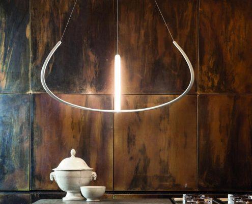 Lampa wisząca w industrialnej kuchni - Nemo lampy
