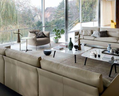 Nowoczesne sofy w salonie - Poltrona Frau