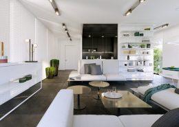 Nowoczesny apartament w bieli - Kando Architects