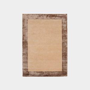 Połyskliwy, brązowy dywan Bordered Rug Grey