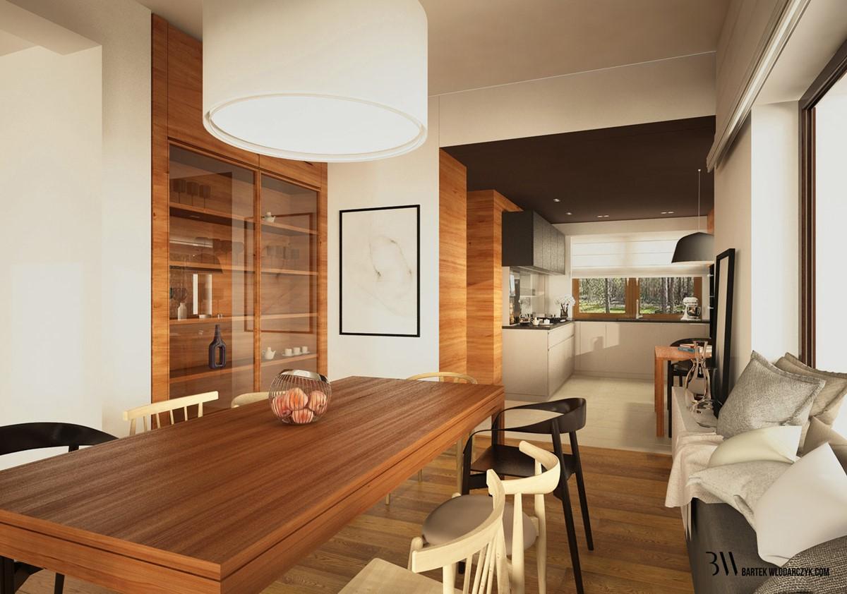 Otwarta kuchnia w bieli hola design homesquare - Przytulna Jadalnia W Stylu Nowoczesnym