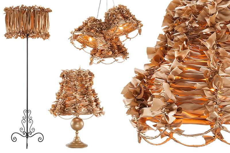 Stylowe lampy Art Deco złote