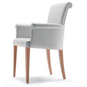 Eleganckie krzesło z podłokietnikami Vittoria Poltrona Frau