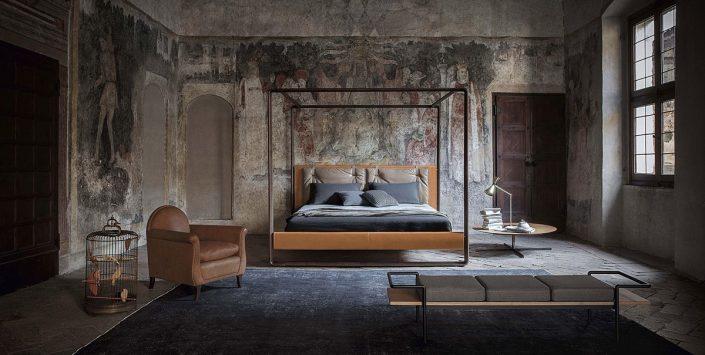 Nowoczesne łóżko z baldachimem Volare