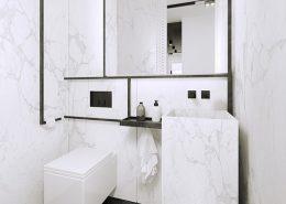 Aranżacja minimalistycznej toalety