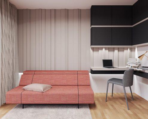 Domowa pracownia z sofą - Xicorra