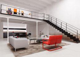 Duży loft z antresolą