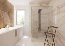 Kamień w jasnej łazience - Xicorra