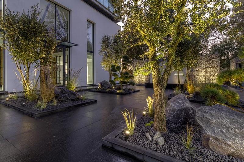 Kamienny ogród w nowoczesnym stylu