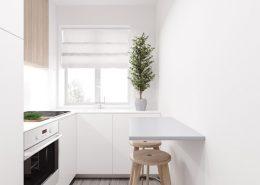 Mała kuchnia w bieli