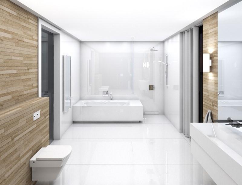 Minimalistyczne wnętrza łazienka