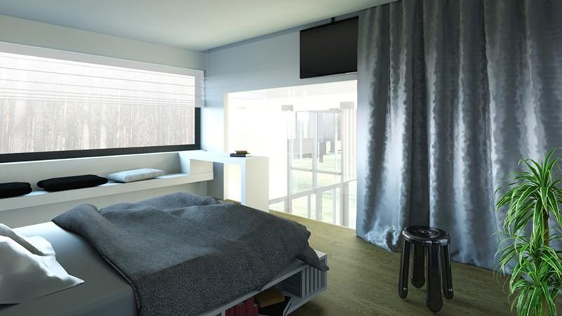 Minimalistyczne wnętrza sypialnia