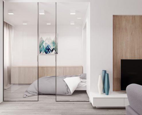 Projekt przeszklonej sypialni