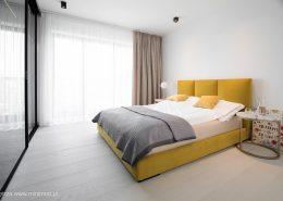 Sypialnia z przeszkloną garderobą - Minimoo