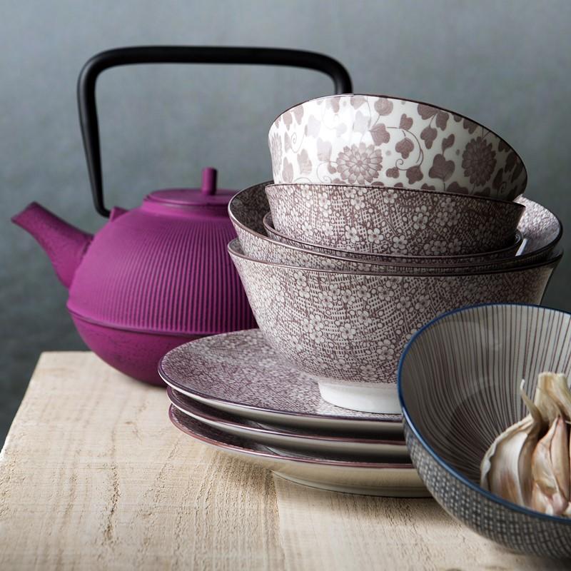 Żeliwny czajnik do herbaty różowy Kukicha