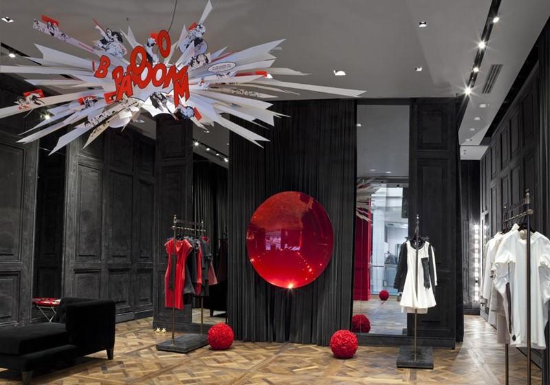 Genialny Aranżacja ekskluzywnego sklepu odzieżowego La Mania - Inspiracja AG87