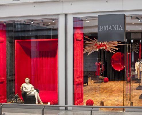 Aranżacja ekskluzywnego sklepu odzieżowego La Mania