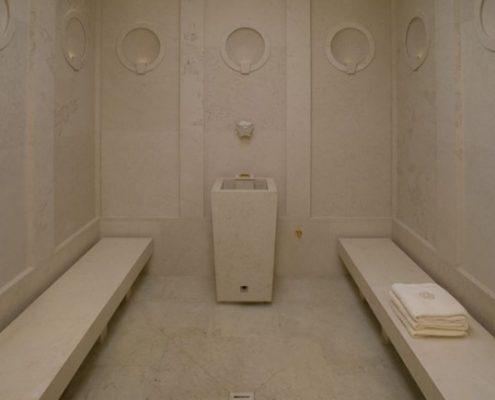 Klasyczna sauna w kamieniu
