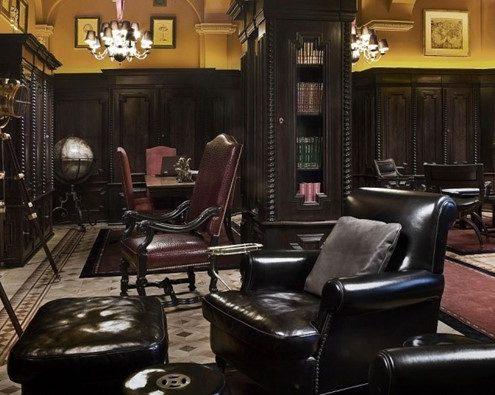 Klasyczne biuro w rezydencji