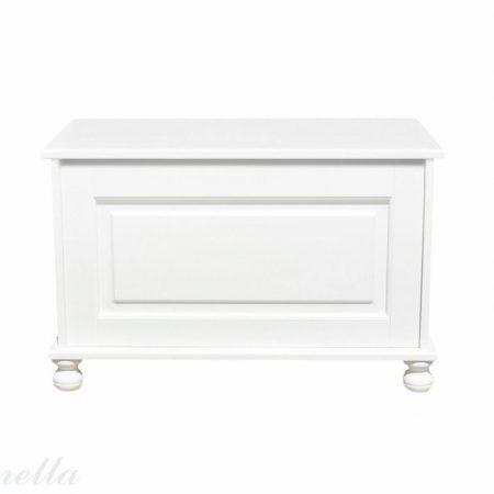 Biała klasyczna skrzynia