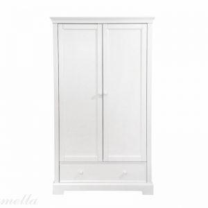Klasyczna szafa dziecięca biała w stylu francuskim