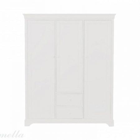Szeroka szafa dziecięca biała klasyczna