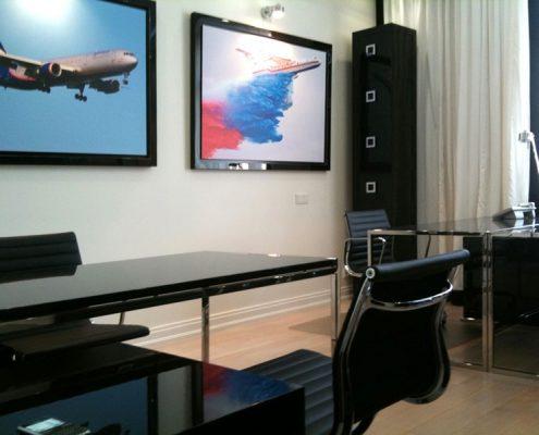 Wnętrze biurowe w nowoczesnym stylu