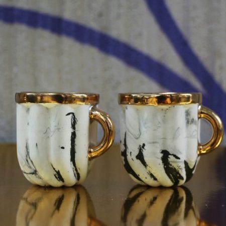Kieliszki Cream, porcelana