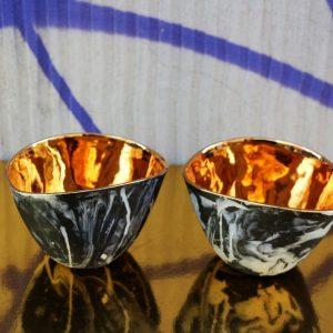 czarka do herbaty 02 Czarki Jewel, porcelana, złoto