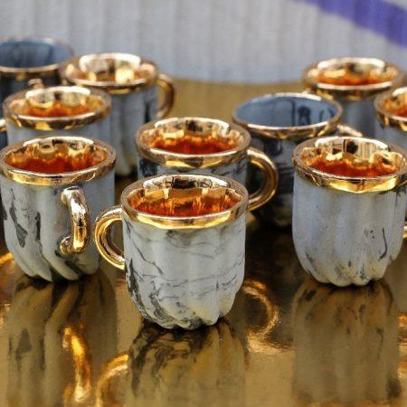 Zestaw do kawy Crema złoty Mosko Ceramics
