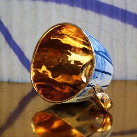 Porcelanowa filiżanka Jewel złota