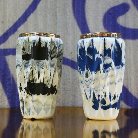 Wazonik Cristal ze złotym rantem Wazoniki Crystal, porcelana, złoto