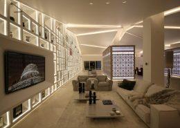 Aranżacja nowoczesnego apartamentu - pokój dzienny
