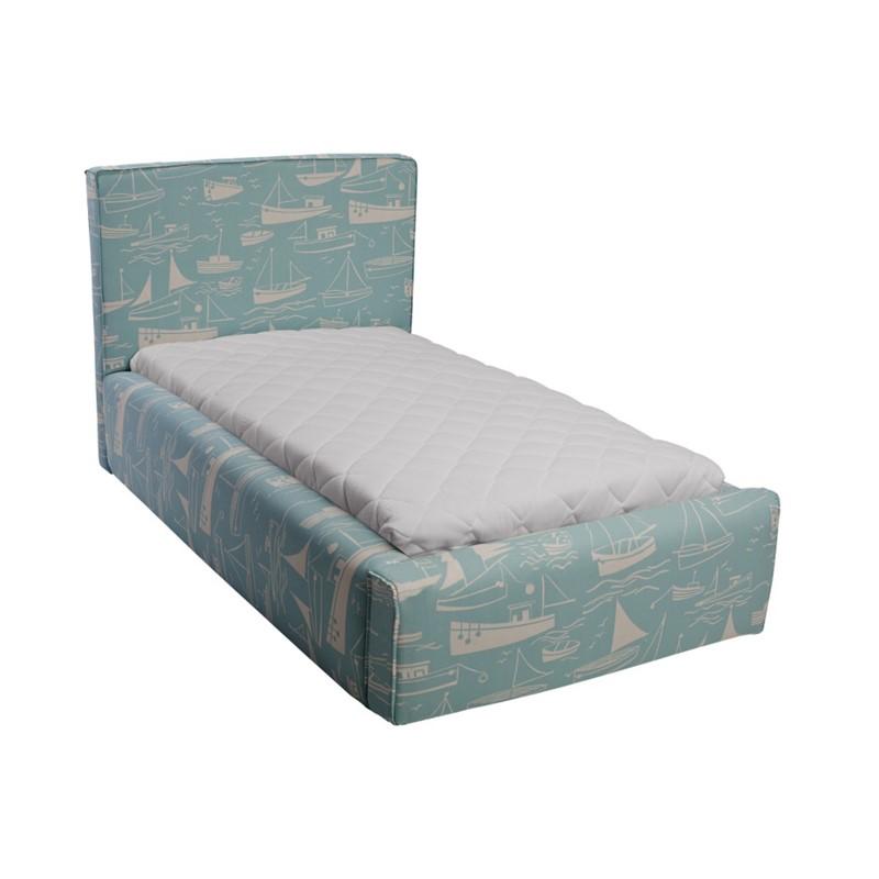 Błękitne łóżko dziecięce statki Basic