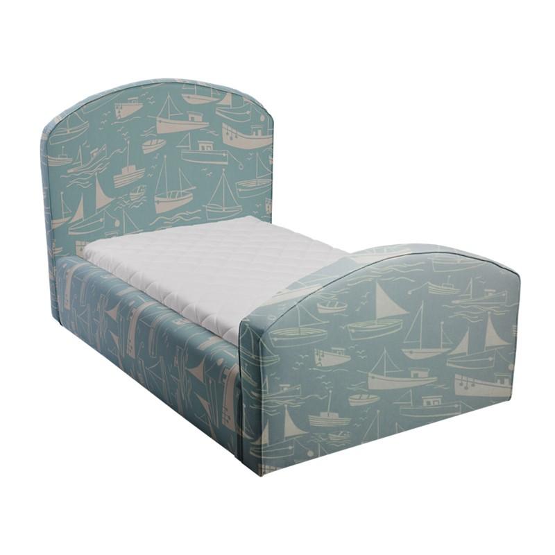 Błękitne łóżko dziecięce statki caroline plus