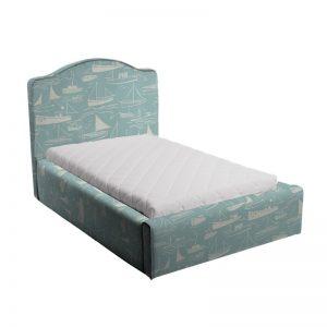 Błękitne łóżko dziecięce statki soho