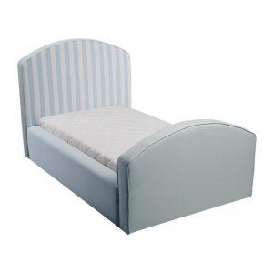 Błękitne łóżko młodzieżowe w paski caroline plus