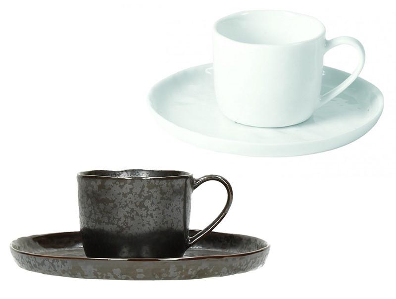 Designerska biała i czarna porcelana