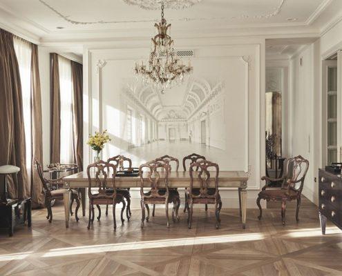 Elegancka jadalnia w klasycznym wydaniu