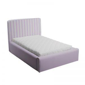 Fioletowe łóżko młodzieżowe w paski basic slim