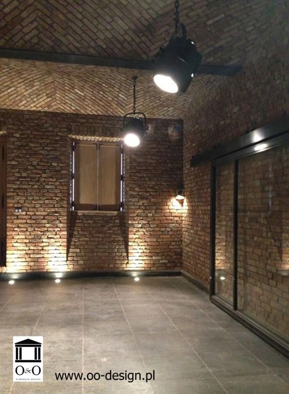 Garaż Wykończony Czerwoną Cegłą Inspiracja Homesquare
