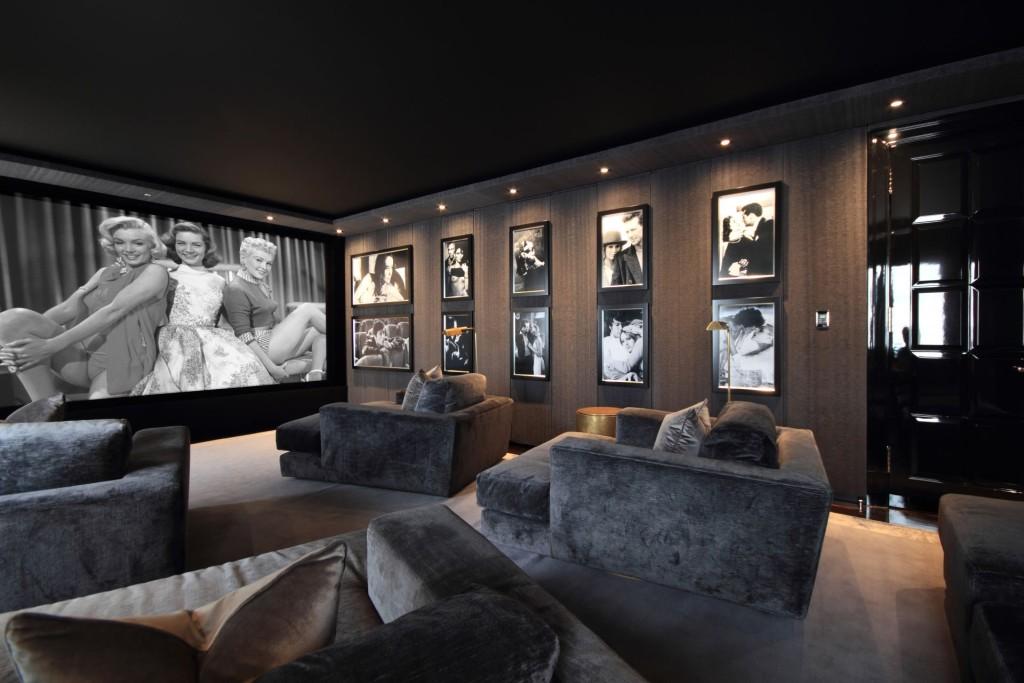 Kameralna sala kinowa w rezydencji