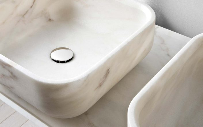Kwadratowa umywalka z marmuru BOWL n3